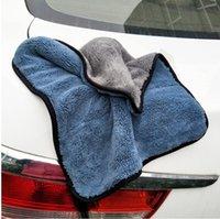 ingrosso tessuti per la pulizia della fibra-Cura dell'auto Lucidatura Asciugamani di lavaggio Microfibra di peluche Asciugatura Asciugamano Asciugamano in fibra di poliestere di forte spessore Tessuto di pulizia per auto (vendita al dettaglio)