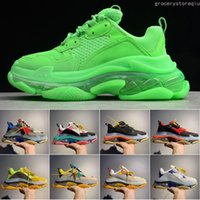 Wholesale rubber outsole shoes for sale - Group buy Mens Shoe Triple S fashion Designer Casual Shoes Luxury shoes women s Combination Nitrogen Outsole Crystal Bottom Dad Casual Shoes
