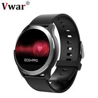 смартфон ip68 оптовых-N59 Смарт Часы ECGPPG Сердечного ритма Артериального Давления Фитнес-Трекер Часы IP68 Водонепроницаемый Smartwatch для Android IOS Телефон VS N58