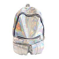 gümüş hologram sırt çantası toptan satış-Tasarımcı sırt çantası Gammaray Hologram Kadınlar Gümüş Hologram Lazer Sırt Çantası erkek Çantası Deri Holografik Sırt Çantası Damla Nakliye