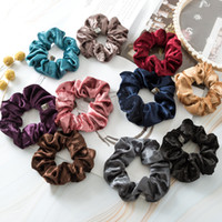 Wholesale thick headbands online - Women Girl Headband High Elastic Force Hairbands Flannelette Thick Hair Accessories Durable Simple Fashion Kids Multi Colors ys D1