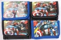 vingadores crianças venda por atacado-New hot cartoon The Avengers logotipo Coin Bolsas Mini Carteiras Lotes Mix Spiderman Caráter Crianças Kid Presentes Frete grátis