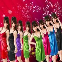 Wholesale night robes sexy online - Women Ladies Sexy Sleepwear Soft Lace Dress Sleep Robe Summer Underwear Sweet Backless Night Clothes LLA150