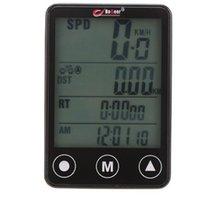 bisiklet altlığı toptan satış-BoGeer Bisiklet Bilgisayar LCD Dijital Su Geçirmez Dokunmatik Botton LCD Bisiklet Bilgisayar Kilometre Sayacı Velometer Bisiklet Kilometre Aksesuarları # 318510