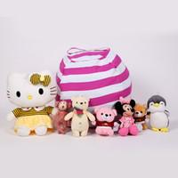 Wholesale canvas toy storage resale online - Kids Soft Cotton Storage Pouch Children s large plush toy storage bag sturdy multi purpose sofa canvas bean bag EEAA459