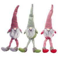 ingrosso bambole nano-Nordic Gnome Dolls Christmas Stripe in peluche Babbo Nano sotto l'albero Giocattoli regalo per Capodanno Decorazione per feste di Natale AF187