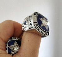 ringe cowboys großhandel-Hochwertige Weihnachtsgeschenke 1975Dallas Cowboys National Football Championship Ring Herrenringe