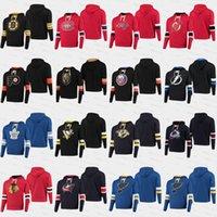 sudadera con capucha capital al por mayor-El parentesco Pullover Hoodies Philadelphia Flyers Chicago Blackhawks diablos Reyes, chaquetas azules Rangers capitales de hockey de la NHL jerseys Costura