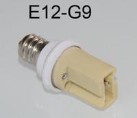 g9 lamba soketi toptan satış-LED soket E12 G9 duy Tutucu Soket Adaptörü E12-G9 led lamba bankası soket LED ampul bankası Dönüştürücü genişletici