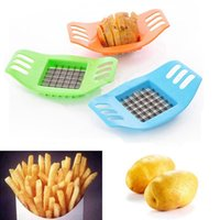 Wholesale potatoes chopper resale online - ABS Stainless Steel Potato Cutter French Fry Cutters Potato Vegetable Slicer Chopper Kitchen Cooking Tools HHA850