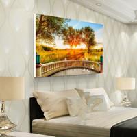 pintura al óleo naturaleza al por mayor-Dormitorio pintura al óleo decoración imagen sin marco decoración impresión impresa cartel habitación pared arte impresión decorativa para vivir hogar sofá naturaleza