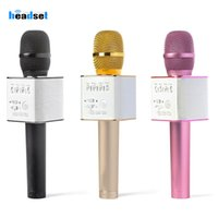 Wholesale speaker for android cell phone online – Wireless Karaoke q9 Microphone Bluetooth Speaker in Handheld Sing Recording Portable KTV Player microphones for iOS Android
