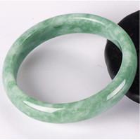 encantos chineses esculpidos venda por atacado-Pulseira de jade verde chinês 52-64mm Charme Jóias Acessórios de moda Esculpida à mão Homem mulher Sorte Amuleto Presentes