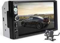 радио mp3 auto usb dvd оптовых-Автомагнитола 7010B 2 Din 7 '' HD с сенсорным экраном Bluetooth Стерео Радио FM / MP3 / MP4 / Аудио / Видео / USB Автоэлектроника в Dash MP5 Player