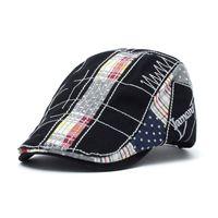 ingrosso berretti per festa-New Men Lattice Cloth Patch Berretti Fashion Outdoor Party Casual Top Cappelli da golf Sport Beach Vacation Sun Cappelli