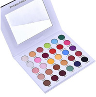палитра макияжа радуги оптовых-30 Colors Shimmer Eyeshadow Palette Cosmetics Rainbow Color Pearlescent Matte Nude Pressed Eye Shadow Powder Beauty Makeup