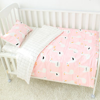 Wholesale baby bedding set pcs crib resale online - 3 Baby Bedding Set Pure Cotton Crib Bedding Set Baby Bed Linen Includes Pillowcase Bed Sheet Duvet Cover Without Filler