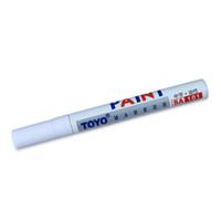 marker stift auto farbe großhandel-Reifen Marker Pen Permanent Farbe Auto Reifen Stifte Universal Wasserdichte Lauffläche Gummi Metall Weiße Farbe Free Drop Ship