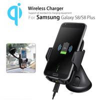 ingrosso caricabatterie-Universale 2 in 1 5W Qi Wireless Car Charger Pad supporto per telefono cellulare parabrezza supporto ventosa clip per iPhone XR XS MAS