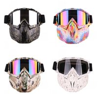 крест кантри оптовых-Мотоцикл кросс-кантри маска очки ветрозащитный пылезащитный шлем камуфляж черная змеиная кожа мода прочный открытый очки горячая распродажа 48xsD1