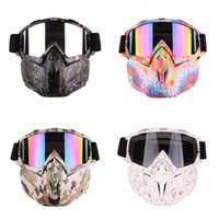 kros kasası kaskı toptan satış-Motosiklet Kros Maske Gözlük Windbreak Toz Geçirmez Kask Kamuflaj Siyah Yılan Cilt Moda Dayanıklı Açık Gözlük Sıcak Satış 48xsD1