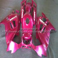 1996 honda cbr pink fairings toptan satış-23 renkler + Vidalar pembe Vücut Kiti HONDA CBR 600F3 1995-1996 için motosiklet panelleri CBR600F3 1995 1996 ABS Plastik motor kaporta