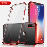 Wholesale electroplate mobile phone case online – custom Applicable new iphonex xs electroplating tpu mobile phone case Apple plus anti fall transparent soft shell three stage