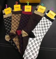 sıcak erkekler tayt toptan satış-2019 Sıcak Marka Bayan Çorap f K9 F Logo Çorap Yeni kadın erkek Için çorap parti Kulübü Tayt Kız erkek Orta tüp çorap kutusu Ile