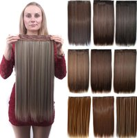 Wholesale one piece synthetic hair extensions for sale - Group buy Tatyking Female Long Straight Hair Extension Piece One Piece Seamless Five Piece Clip Hair Chemical Fiber Hair Cur PH0213