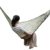 malla de hamaca al por mayor-Jardín portátil Nylon Hamaca SwingHang Mesh Net Hamaca cama para viajes al aire libre Camping Hamak Azul Verde Rojo Hamac