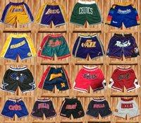 ingrosso solo pantaloncini-Ricamo Solo sport traspirante ultra leggero Don Sport Shorts Shorts da basket Shorts da palestra corti con tasche con cerniera