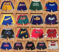 gymnastik-shorts taschen großhandel-Stickerei Nur ultraleichte, atmungsaktive Sportshorts von Don Sportwear Basketball-Shorts Kurze Turnhose mit Reißverschlusstaschen