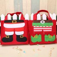 ingrosso famiglia di mele-2020 Nuovo Natale sacchetto non tessuto del regalo di Babbo Natale Decorazioni di Natale Elf Per Famiglia Capodanno di Apple Candy Bag