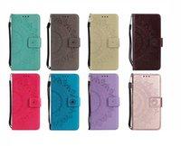 dantelli cüzdanlar toptan satış-Künye Deri Cüzdan Kılıf Huawei P30 Lite Y7 2019 Samsung A50 A30 A10 M20 Kabartmalı Totem Dantel Çiçek Kapak Kart Coque Ayçiçeği Kapakları