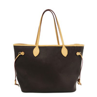 Wholesale codes phone resale online - real leather women bag date code fashion Genuine cow leather shoulder bag shopping bag big tote with clutch