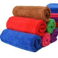 ingrosso rilievi di mop-Asciugamano di pulizia di velluto di corallo 40 * 60cm cucina asciugamano per il bagno straccio di straccio Panno per raschiare (5 colori casuali di PCS)