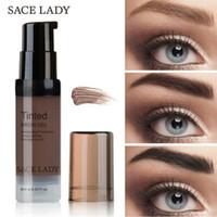 восковые брови оптовых-Sace Eyebrow Lady Dye Eyebrow Водостойкая тени для макияжа для воска для бровей Длительный оттенок оттенка Макияж Краска Помада Косметика
