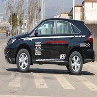 adesivos para carros wrc venda por atacado-Adesivos de carro WRC porta guirlanda alfabeto adesivos modificação do carro 2 pçs / set