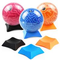 3d maze ball kids venda por atacado-HOT NEW 3D Labirinto Bola Maze Puzzle Base de Equilíbrio de Puzzle Brinquedo Jogo Titular Brinquedo de Treinamento Labirinto para Crianças
