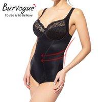 bodysuits nylon mulheres venda por atacado-Burvogue Mulheres Body Shaper Bodysuits Sem Costura Shapewear Cintura Cincher Controle Shaper Emagrecimento Cueca Shaper Plus Size Xs-3xl Y19070201