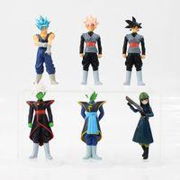 Wholesale free goku toys resale online - 6pcs cm Anime Dragon Ball Z DBZ Action Figure Toy Zamasu Goku Mai PVC Model Collection Doll For Kids Gift