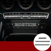 capas de botão de strass venda por atacado-Estilo rhinestone consola botão de controle do console tampa da guarnição para benz classe c w205