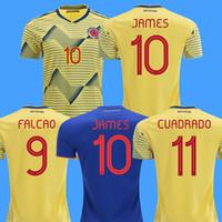 ingrosso maglie futbol america-2019 Colombia maglie da calcio cop america colombia maglia calcio JAMES Rodriguez Camiseta de futbol FALCAO CUADRADO maglie piede