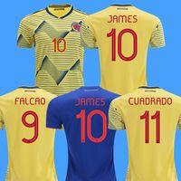 maillots de football américain achat en gros de-2019 Colombie maillots de football copa america colombia maillot de foot maillot de foot JAMES Rodriguez maillot de foot maillot de football américain