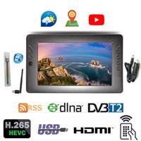sinal wifi usb venda por atacado-LEADSTAR 996 9 polegadas LEADSTAR 996 de 9 polegadas Portátil analógico Digital de sinal de televisão H.265 DVB-T2 1024 * 600 RSS DLNA USB WIFI Carregador de TV Carro presente