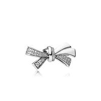 perlen silber armband armband großhandel-Neue modeschmuck zubehör europäischen perlen charme original box für pandora 925 sterling silber wunderschöne bogen charms armband machen