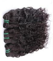 Wholesale off black hair weave resale online - Off Black Color Brazilian Virgin Unprocessed Double Weft Hair Body Wave Inchs Remy Human Hair Weave Piece g