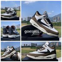 paten ayakkabıları 12 toptan satış-2020 Yeni Travis sayaç logosu 3 s Yüksek Bir Basketbol ayakkabıları Kahverengi Scott Erkek Tasarımcı Sneakers lüks sneaker 1 Paten Eğitmenler Boyutu 12