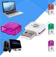 ingrosso lettore di carte ad alta velocità-Lettore di schede USB 2.0 ad alta velocità Micro TF T-Flash TF 1000 con lettore di schede di memoria adattatore
