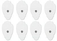 electrodos de decenas de unidades al por mayor-Almohadilla para electrodos TENS (forma de palma) para la unidad TENS Mini parche de masaje Reutilizable, autoadhesiva, almohadillas de electrodo de repuesto para máquinas de terapia TENS